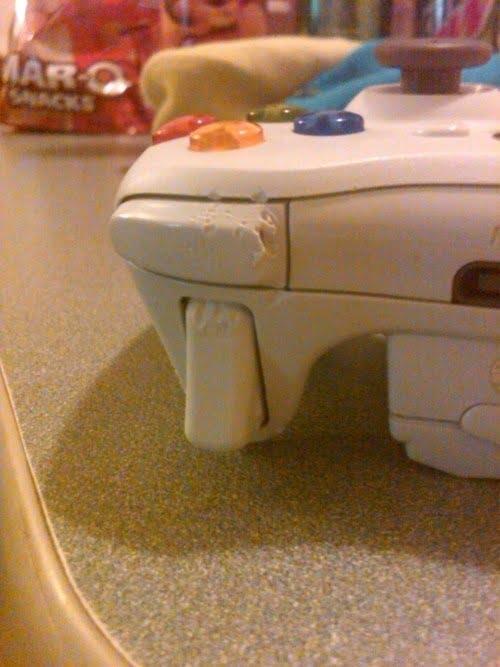 dog chewed xbox controller