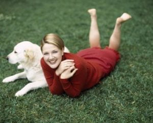 Flossie and Drew Barrymore