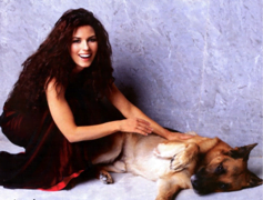 shania twain and dog