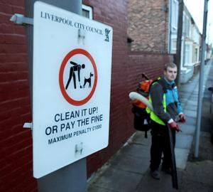 Liverpool cleans up dog mess